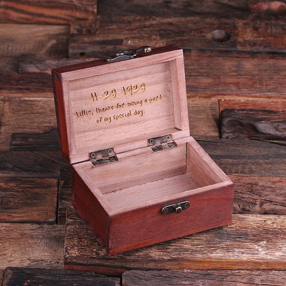 A Personalized Rectangular Keepsake/Jewery Box - Rion Douglas Gifts - 2