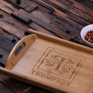 Personalized Wood Serving Tray - Rion Douglas Gifts - 2