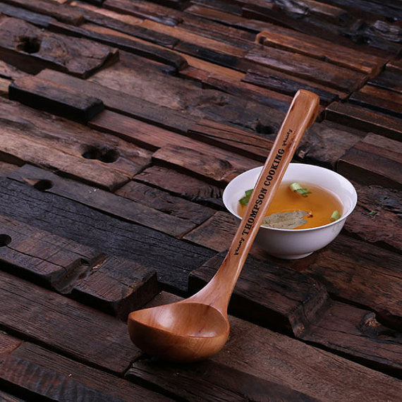 Personalized Wooden Soup Spoon - Rion Douglas Gifts - 1