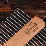 A Personalized Tie Hook Hanger – Natural or Cherry Wood Finish - Rion Douglas Gifts - 3
