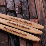 Personalized 3 piece Wooden Toothbrush Set - Rion Douglas Gifts - 3