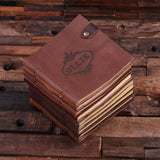 A Personalized Leather Travel Diary & Sketchbook - Rion Douglas Gifts - 5