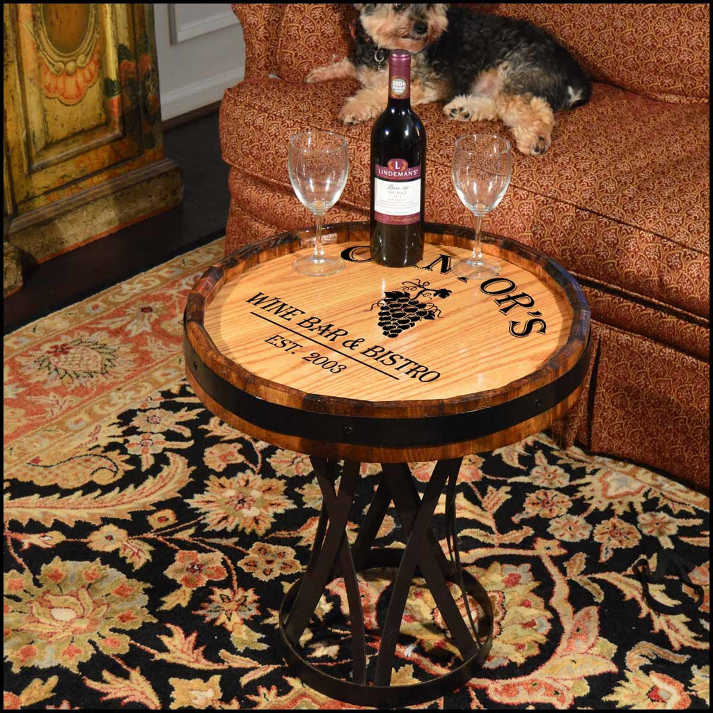 Personalized Wood End Table
