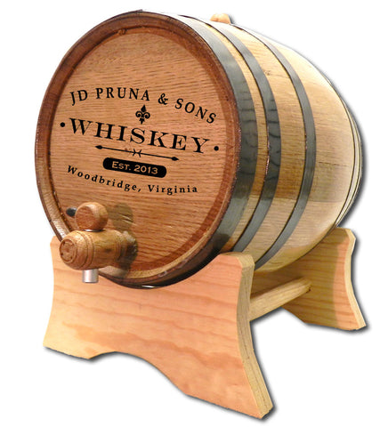 Classic Label Personalized Oak Barrel - Rion Douglas Gifts - 1
