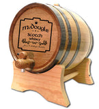 Celtic Plate Personalized Oak Barrel