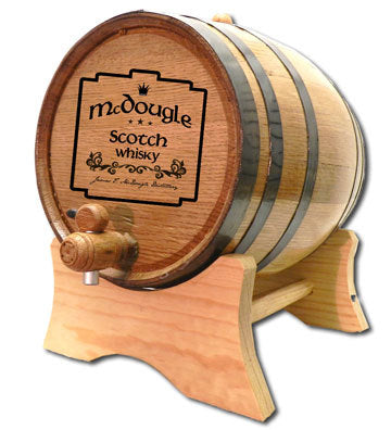 Personalized Oak Barrel