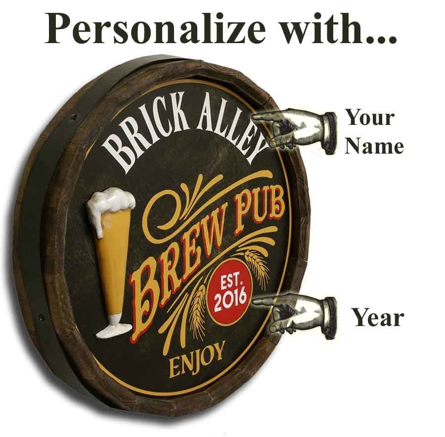 Brew Pub - Personalized Quarter Barrel - Rion Douglas Gifts - 3
