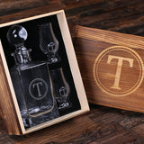 Engraved Whiskey Decanter Set