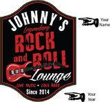 Rock & Roll Lounge Personalized Wooden Sign - Rion Douglas Gifts - 2