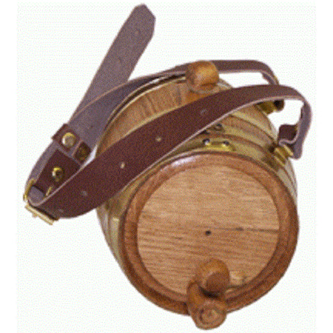 Personalized St. Bernard Oak Barrel Dog Collar