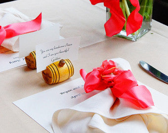 Personalized Barrel Place Card Holders (Set of 8)