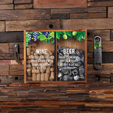 Beer Cap & Wine Cork Holder Personalized Shadow Box - A