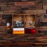Beer Cap & Wine Cork Holder Personalized Shadow Box - B