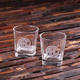 Personalized Whiskey Glasses - 2, 4, or 6 Glasses - Rion Douglas Gifts - 1