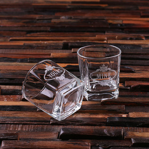 Personalized Whiskey Glasses - 2, 4, or 6 Glasses - Rion Douglas Gifts - 2