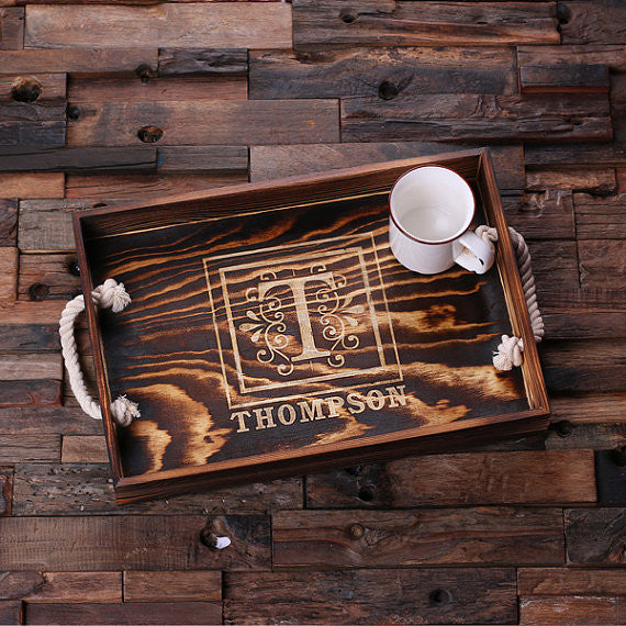 Engraved Wooden Serving Tray - Rion Douglas Gifts - 3