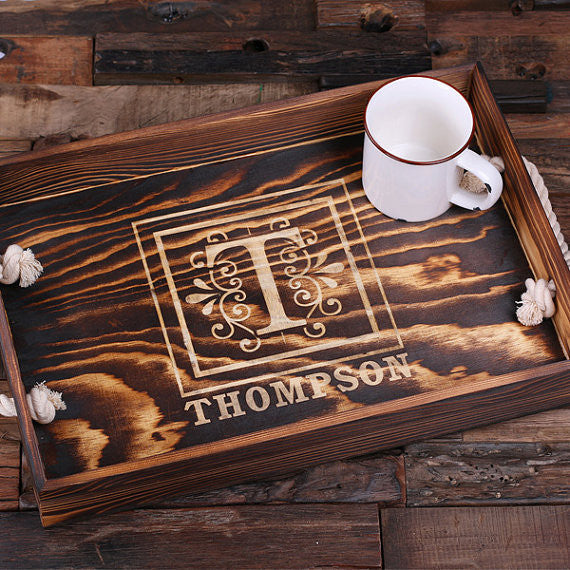 Personalized Wooden Serving Tray - Rion Douglas Gifts - 2