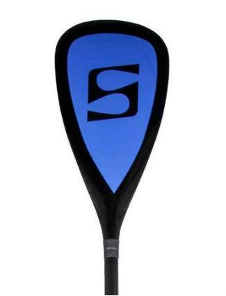 SurfStow 3-Piece Fiberglass SUP Paddle w/Blue & Black Blade - Paddleboard & Surf
