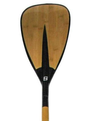 SurfStow Elliptical Fixed Carbon Fiber Paddle With Bamboo Inlay - Paddleboard & Surf