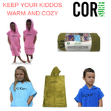 COR Surf Kids Microfiber Changing Towel - 4 Colors to Choose From - Paddleboard & Surf