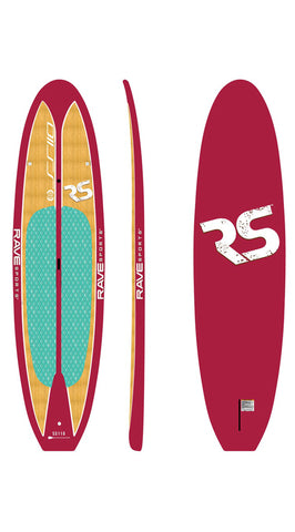 "Rave Sports 10'9"" Shoreline Paddle Board - 5 Gorgeous Colors to Choose From - Paddleboard & Surf"