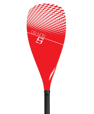 SurfStow Adjustable Fiberglass Paddle w/ RED Carbon Blade - Paddleboard & Surf