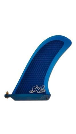 "SUP ATX 9.25"" Race Fin Translucent Blue - Fiberglass/Honeycomb - Paddleboard & Surf"
