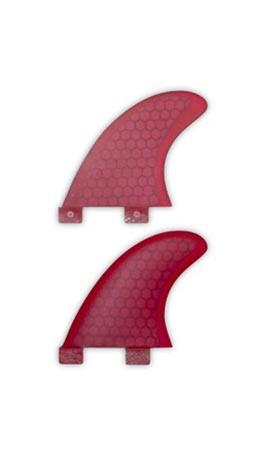 "SUP ATX 3.50"" Red Fiberglass/Honeycomb Side Fins - Paddleboard & Surf"