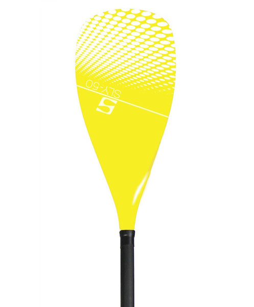 SurfStow Adjustable Fiberglass Paddle w/YELLOW Carbon Blade - Paddleboard & Surf