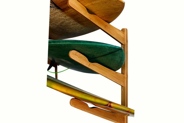 COR Surf Multi-Surfboard Wall Rack - Dark Wood or Bamboo - Paddleboard & Surf