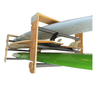 COR Surf Rolling Ceiling Storage Rack - Paddleboard & Surf