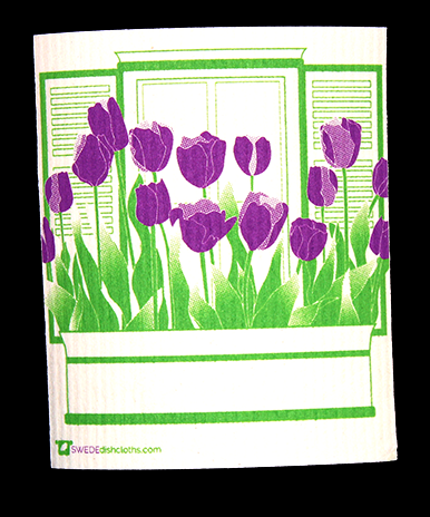 We just added our Purple Tulips design!