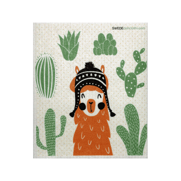Orange llama One Swedish Dishcloth