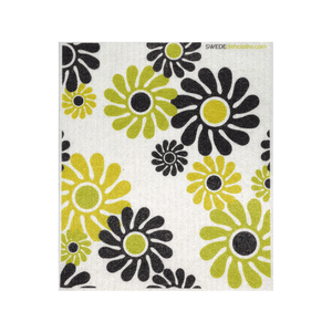 Modern Flowers One Swedish Dishcloth
