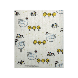 Chicken Family One Swedish Dishcloth