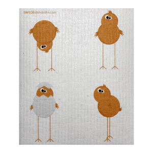 Funny Chickens One Swedish Dishcloth
