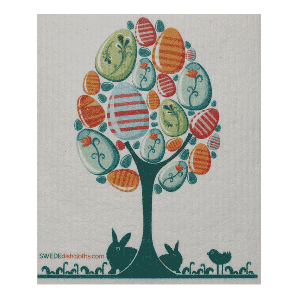 Easter Egg Tree One Swedish Dishcloth
