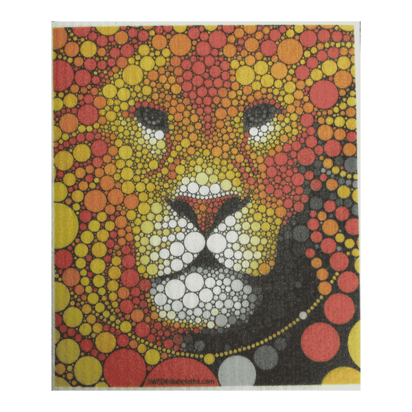 Colorful Lion One Swedish Dishcloth