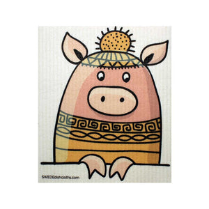 Peeking Pig One cloth Swedish Dishcloths | ECO Friendly Absorbent Cleaning Cloth