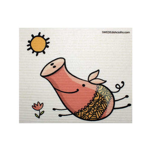 Pig in Sun One cloth Swedish Dishcloths | ECO Friendly Absorbent Cleaning Cloth