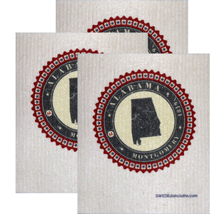 Swedish Dishcloth Set of 3 each Swedish Dishcloth Badge Design - Colorado