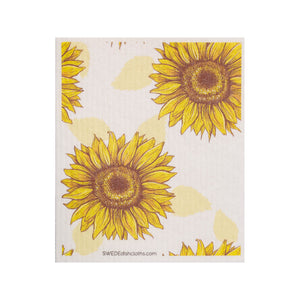 Mixed Sunflowers Set of 4 Swedish Dishcloths (One of each design)