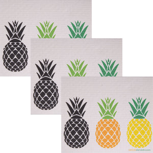 Swedish Dishcloth (3 Pineapples) Set of 3 Paper Towel Replacements | Swededishcloths