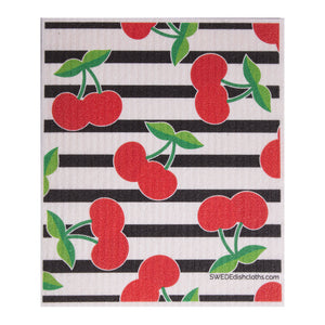 Swedish Dishcloth (Cherry Collage) Single Paper Towel Replacement | Swededishcloths