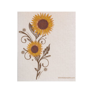 Sunshine Sunflower One Swedish Dishcloth