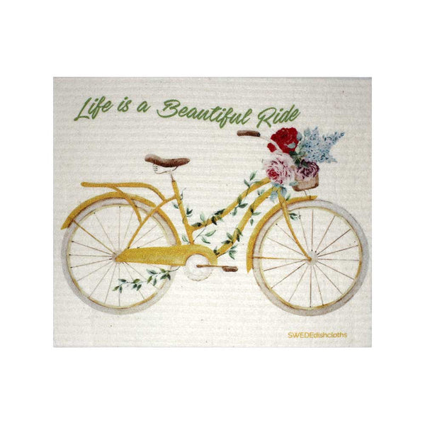 "Swedish Dishcloths ""Beautiful Life Bike"" One Dishcloth 