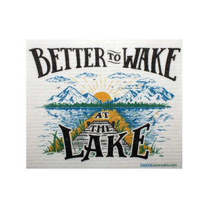 "Swedish Dishcloths ""Wake at the Lake"" One Dishcloth 
