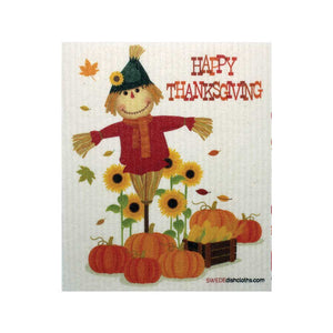 Thanksgiving Scarecrow One cloth Swedish Dishcloths | ECO Friendly Absorbent Cleaning Cloth