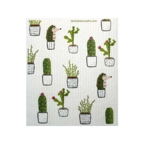 Cactus Collage One cloth Swedish Dishcloths | ECO Friendly Absorbent Cleaning Cloth