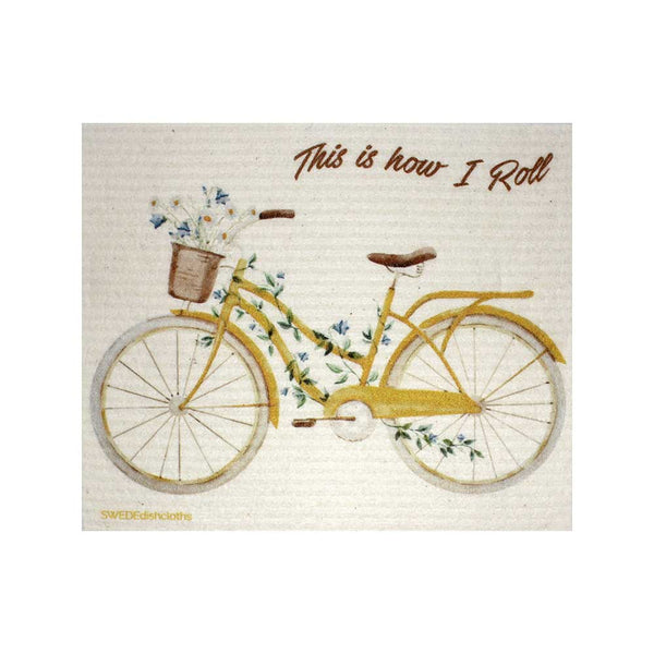 "Swedish Dishcloths ""How I Roll Bike"" One Dishcloth 